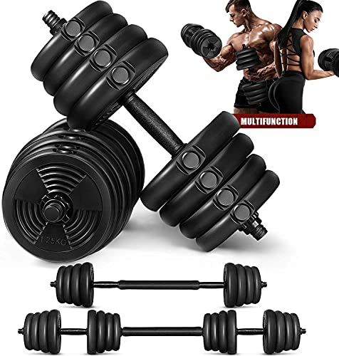 MOVTOTOP Dumbbells Set, 【2021 Newest】 Solid Dumbbells Set with Adjustable Weight to 66LBS & Anti-Slip Design Weight Dumbbells Set for Men and Women Strength Training