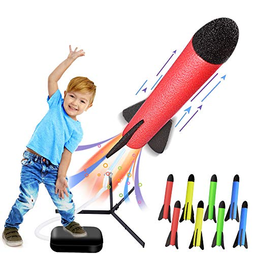 LQYoyz Kids Toys, Rocket Launcher Toys with 8 Rockets - Shoot Up to 100 Feet, Gifts for 4, 5, 6, 7, 8, 9, 10, 11 Year Old Boys, Girls, Kids