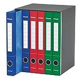 Esselte 391965000 Raccoglitore a 2 anelli, Dorso 4 cm, Colori Assortiti- 1 Gruppo da 6 rac...