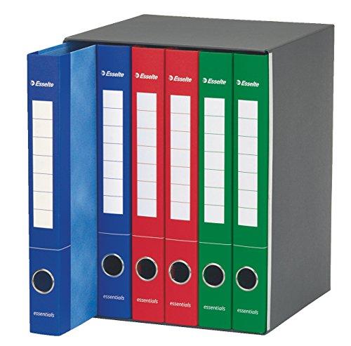 Esselte 391965000 Raccoglitore a 2 anelli, Dorso 4 cm, Colori Assortiti- 1 Gruppo da 6 raccoglitori