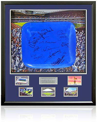 Official Seat From Tottenham Hotspur's White Hart Lane Stadium Hand Signed by 12 AFTAL COA