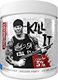 Rich Piana 5% Nutrition Kill IT Pre Workout Powder w/ Creatine, Jitter-Free Caffeine, NO-Booster, Beta Alanine, L-Citrulline for Focus, Pump, Endurance, Recovery 13.23 oz, 30 Srvgs (Blue Raspberry)