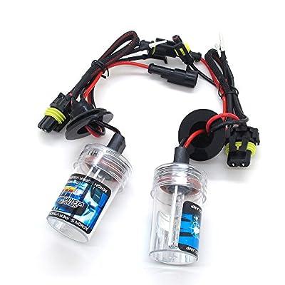 H8/H9/H11 55W HID Xenon Replacement Light Bulbs - 1 Pair - 1 Year Warranty - Blue, Purple, Green, Pink ,3000K ,4300K ,5000K ,6000K ,8000K ,10000K ,12000K in stock