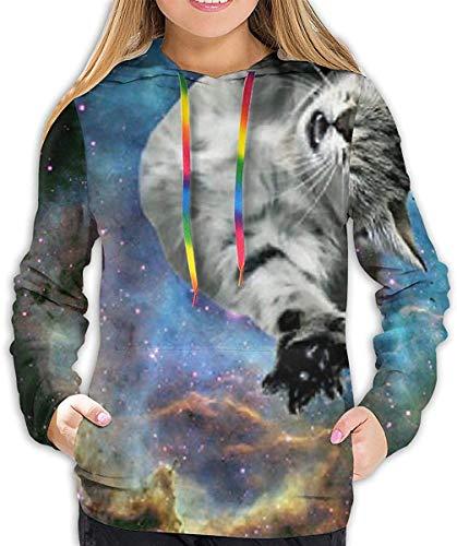 YAOMY Damen Langarm Hoodies Sweatshirt Slim Trainingsanzug Gr. XL, Lustiger Pitbull Hund