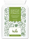 Kula Nutrition Digestive Enzyme Supplements - 90 Vegan Plant Based, High Strength Capsules - Digestion Support Formula with Betaine HCL, Lipase, Bromelain, Papain Protease & Amylase