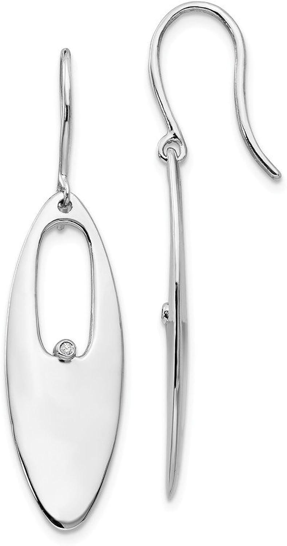 Beautiful Sterling silver 925 sterling Sterlingsilver SS White Ice .01ct. Diamond Earrings
