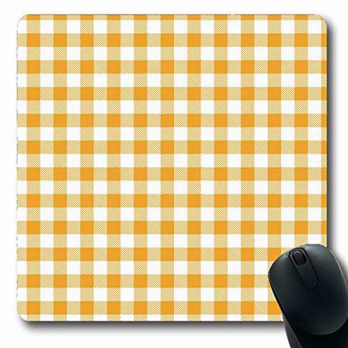 Jamron Mousepad OblongYellow Gingham Buffalo Wrap Check Plaid Vintage Tisch Beauty Fashion Picknick Texturen Nachtwäsche für rutschfeste Gummimaus Pad Office Computer Laptop Spiele Mat.-Nr.