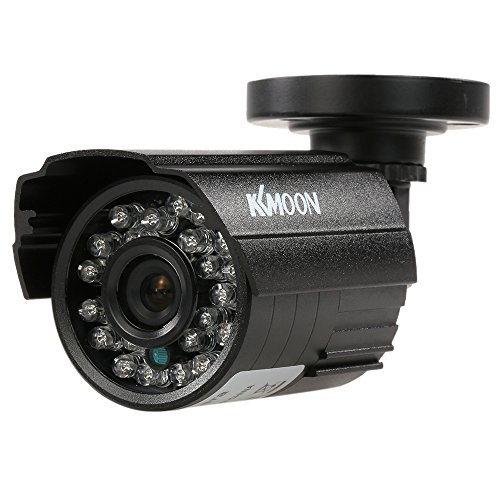KKmoon 1200TVL CCTV Cámara Bala 24 IR Lamps Visión Nocturna 1/3'' CMOS IR-Cut 3.6mm Impermeable IP66 para Seguridad Hogar PAL Sistema