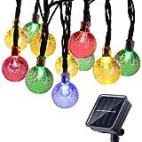 lederTEK Cadena de Luz LED con Energía Solar (6m 30LED) para Árbol de Navidad, Patio,...