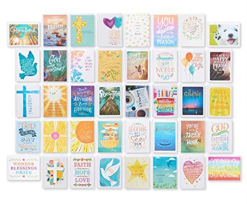 American Greetings Conjunto de cartas religiosas de luxo para todas as ocasiões (40 unidades)