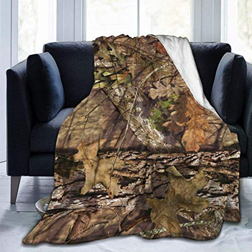 XXUU Camo Fleece Blanket Throw Lightweight Blanket Super Soft Cozy Bed Warm Blanket for Living Room/Bedroom All Season