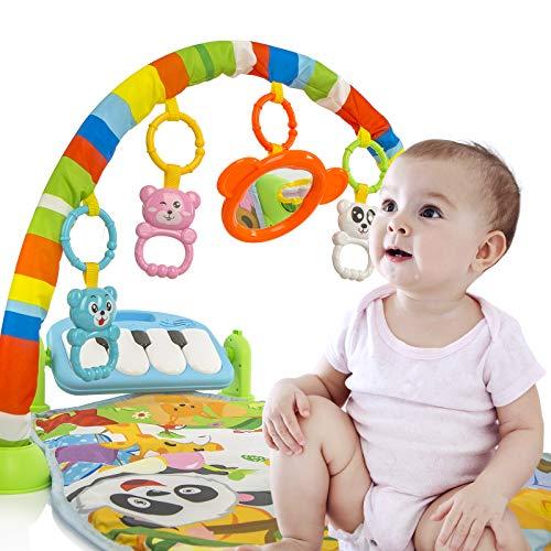 Calma Dragon Manta de Gimnasio para Bebes, Alfomba Musical con Piano, Esterilla con Juegos Infantil, Actividades y Juguetes para el Suelo (Multicolor)