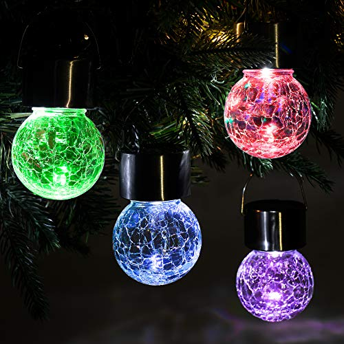 Solpex Hanging Solar Lights Outdoor,8 Pack Decorative...