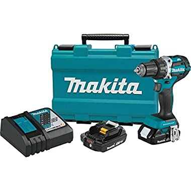 Makita XFD12R 18V LXT Lithium-Ion Compact Brushless Cordless 1/2  Driver-Drill Kit (2.0Ah),