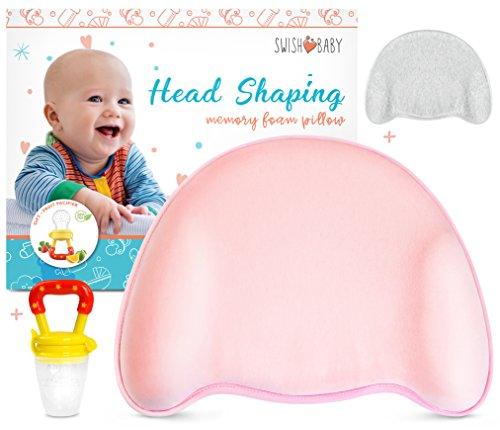 Swish Baby Flat Head Pillow for Sleeping...