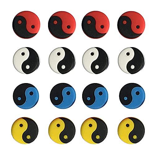 QQRR Ammortizzatore per Racchetta da Tennis, 16 Pezzi Antivibrazioni Tennis, Ammortizzatore Racchetta, Non è Facile Cadere, per Tennisti o Appassionati di Sport (Yin e Yang)