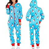 LEYUANA Pijamas con Capucha de Manga Larga para Mujer, Onesies Pijamas de Unicornio de Navidad para Adultos Pijamas de Animales de una Pieza S Muñeco de Nieve