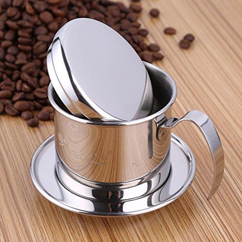 PETSOLA Kaffeefilter Edelstahl Vietnamesisch Kaffeetasse Kaffeebereiter Aus Vietnam