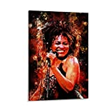 XIAOSHEN Tina Turner Poster, dekoratives Gemälde,
