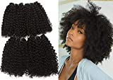 Curly Hair Bundles Synthetic Hair Weave 12 Inches 4 Pcs/Pack 200g Natural Black #1B Deep Wave Curly Synthetic Hair Weft High Temperature Heat Resistant Fiber Hair