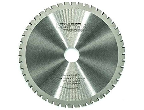 Bayerwald - HM multizaagblad - Ø 210 mm x 2 mm x 30 mm | wisseltand met wisselfase (48 tanden) | universeel zaagblad - geschikt voor verschillende materialen