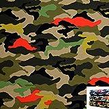 MAGAM-Stoffe Camouflage Jersey Stoff Oeko-Tex Meterware