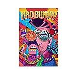 UOKO Póster de Bad Bunny latino de cantante masculino de 30 x 45 cm