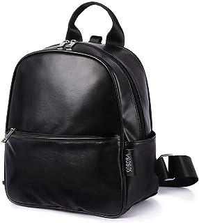 Redland Art Toddler Baby Harness Backpack Black Smooth Leather Large Capacity Kindergarten Bag Anti-lost Travel Backpack For Boy (Color : Black)