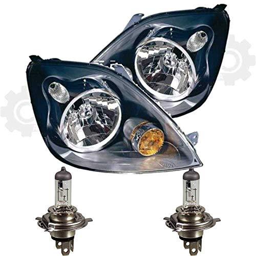 QR-Parts 69613154 Set Scheinwerfer links 1096555 + Scheinwerfer rechts 1096554 + PHILIPS H4 Vision +30% 12342PRC1 (2-Stück)