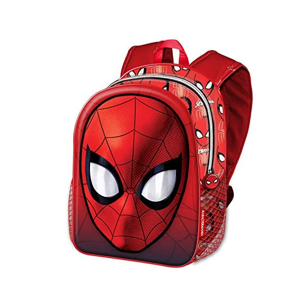 51kivRmEYbL. SS600  - Karactermania Spiderman Spiderweb-Basic Rucksack Mochila Infantil 40 Centimeters 18.2 Rojo (Red)