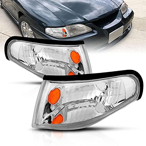 AmeriLite Chrome Replacement Corner Turn Signal Lights Set For 1994-1998 Ford...