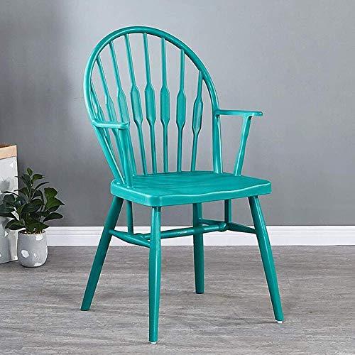 QTQZDD Sillas Windsor, Sillón Silla de Comedor de plástico Diseño Moderno Hogar, Comedor, Cocina, Dormitorio, sillones Laterales Taburetes (Color: Azul)