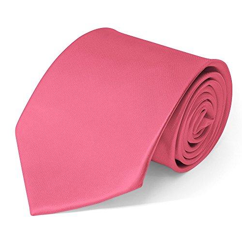 SoulCats Klassische Krawatte inkl. Anleitung breit viele Farben Satin Schlips Herren, Farbe:rosa