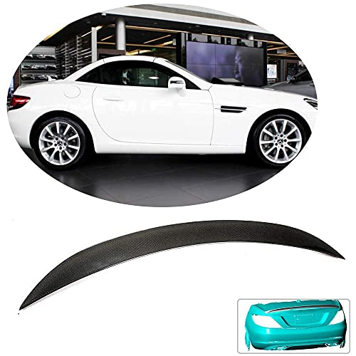 YMSHD Alerón Trasero Apto para Mercedes para Benz Slc180 Slc200 Slc300 Slc43 Amg Cabrio 2016-2019 Fibra de Carbono CF Tapa de Puerta Trasera Highkick Labio de ala Trasera