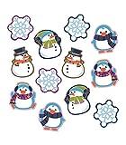 Carson Dellosa Winter Cutouts—Penguin, Snowmen,...