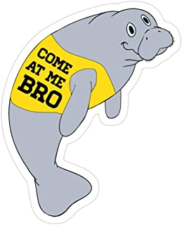 Andrews Mall Manatee, aka The Sea Cow, Novelty Come at Me Bro Gift | Commercial for Any Animal Lover, Zoo Keeper or Nature Enthusiast! Stickers (3 Pcs/Pack)