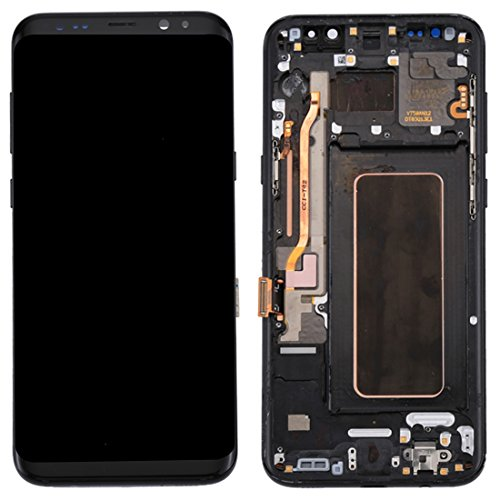 ELECTRONICS MobilePhone REPLACEMENT PART COU New LCD-scherm + New Touch Panel met Frame for Galaxy S8 + / G955 / G955F / G955FD / G955U / G955A / G955P / G955T / G955V / G955R4 / G955W / G9550 (zwart)