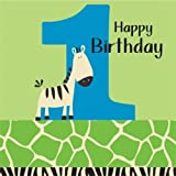 zebra birthday napkin