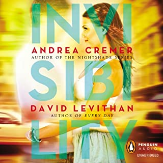 Invisibility                   By:                                                                                                                                 Andrea Cremer,                                                                                        David Levithan                               Narrated by:                                                                                                                                 Mandy Siegfried,                                                                                        MacLeod Andrews                      Length: 9 hrs and 37 mins     54 ratings     Overall 3.7