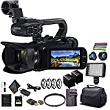 Canon XA45 Professional UHD 4K Camcorder (3665C002) W/Extra Battery, Soft Padded Bag, 64GB Memory Card, LED Light, Close Up Diopters, Lenses, and More Advanced Bundle (Renewed)