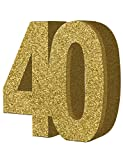 Generique - H103 Gold Glitter Number 40 Table Decoration-1 Pc
