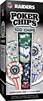 MasterPieces NFL Raiders Poker Chips, 100 Piece