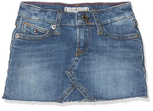 Tommy Hilfiger Baby-Mädchen Selena Denim Skirt FIAMC Rock, Blau (Field Authentic Mid Comfort 911), (Herstellergröße: 86)
