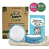 EcoYou Abschminkpads waschbar BIO-Baumwolle [10x] Inkl. Wäschenetz aus Baumwolle Nachhaltige ZERO...