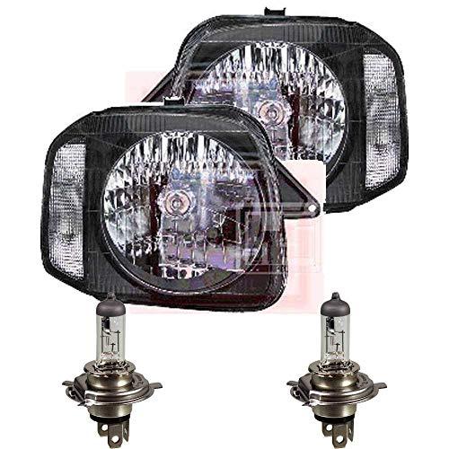 QR-Parts 69608983 Set Scheinwerfer links 1311230 + Scheinwerfer rechts 1311231 + PHILIPS H4 Vision +30% 12342PRC1 (2-Stück)