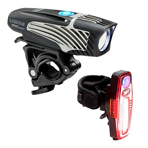 NiteRider Lumina 1000 Boost Front Bike Light Sabre 110 Rear Bike Light Combo Pack LED USB Rechargeable Bicycle Headlight Water Resistant Mountain Road City Commuting Cycling Safety Flashlight