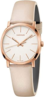 Calvin Klein Posh Swiss Made Silver Dial Rose Gold 32MM Watch For Women