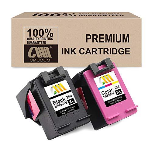 CMCMCM Remanufacturado Cartucho de Tinta para HP 304 304XL para HP DeskJet 2630 3720 3730 3735 3750 3760 Envy 5030 5032 5020 (1 Negro, 1 Colour) álta Capacidad