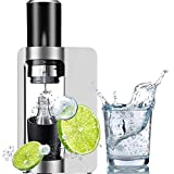 Sparkling Water Maker, Soda Drink Carbonated Water Machine, Fully Automatic Pressure Relief Detachable Vent Hole Round Head - for Home/Office/Party, 1L, 27 10 44CM