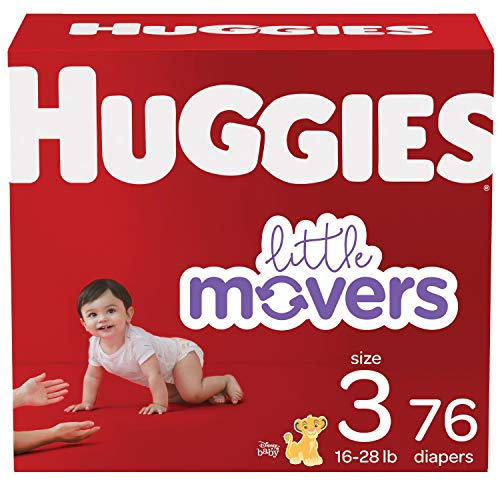 Baby Diapers Size 3, 76 Ct, Huggies Little Movers